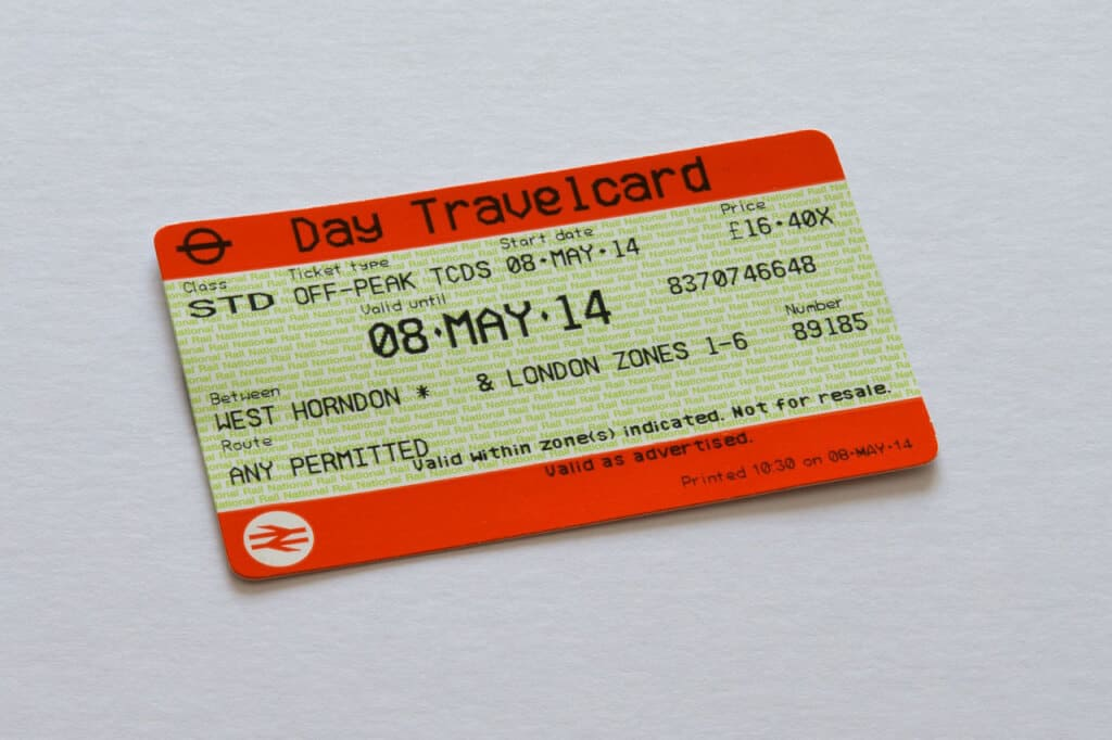 London Tube Travel Card
