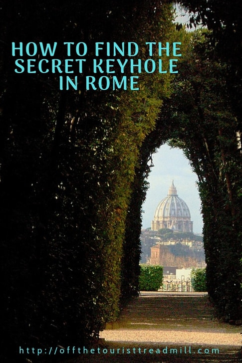 how to find the secret keyhole rome